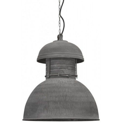 Grijze industriele hanglamp, leuk voor de stoere jongens kamer