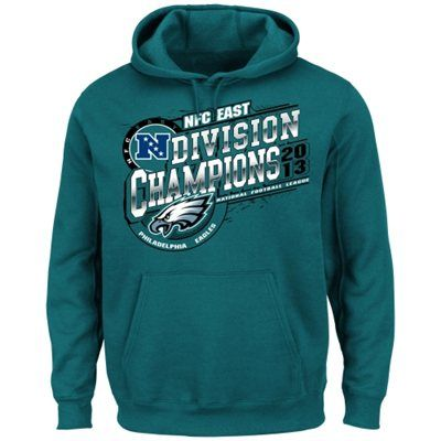 Philadelphia Eagles 2013 NFC East Division Champions Pullover Hoodie - Midnight Green
