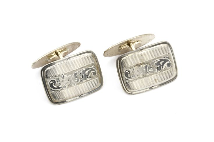 Excited to share the latest addition to my #etsy shop: Scandinavian Cuff Links, Floral Scroll Cufflinks, Etched Engraved Jewelry, Vintage Germany Jewelry, Antique 1930s Art Nouveau Jewelry http://etsy.me/2BA30Lc #accessories #cufflinks #silver #wedding #floralscroll