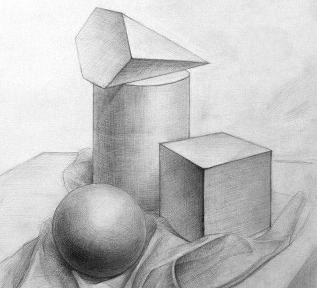 геометрические натюрморты в карандаше - Поиск в Google