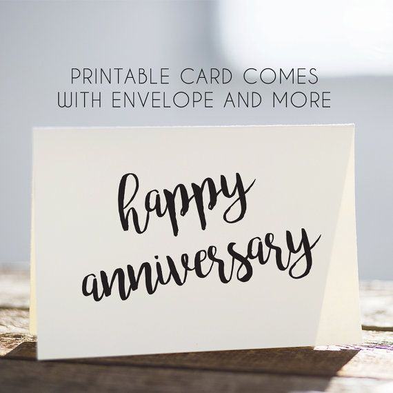 Happy Anniversary, Printable Anniversary, Black And White, Anniversary Cards,  Digital Anniversary, Download Anniversary  Free Printable Anniversary Cards