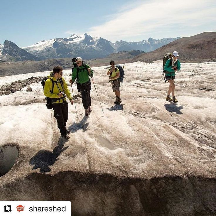 So excited for this announcement! Congratulations to Daniel on the acquisition - @shareshed @guiides @leavetown make a great team! I can't wait for what's to come and the many more adventures to follow! (I also love this photo of us hiking through the glaciers on our way from Squamish to Whistler)