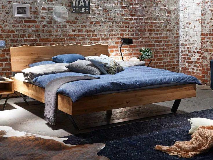 Bett Eiche massiv Modern Sleep 1 Pickupmöbel.de