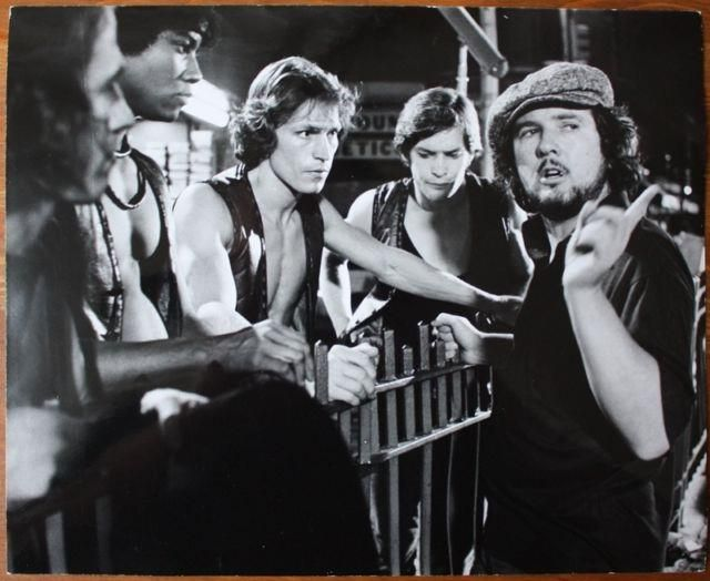 Walter Hill (director) giving instructions outside 72nd station where they see The Baseball Furies to The Warriors, Cowboy, Snow, Swan and Ajax. <3 <3 <3 <3