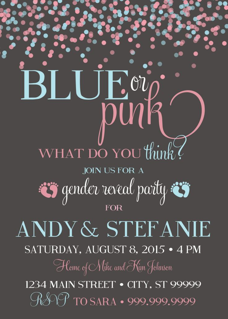 Best 25 Gender reveal invitations ideas – Invitations for Gender Reveal Party