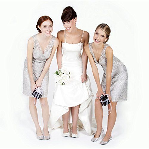Bailarinas Boda en bolsa de regalo talla L (40-41). (7,2€ unidad). Pack 10 unidades