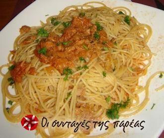 Spaghetti al tonno e pomodoro #sintagespareas