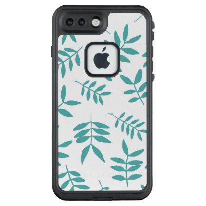 Turkuoise twig pattern. Herbal decorative elements LifeProof FRĒ iPhone 7 Plus Case - pattern sample design template diy cyo customize