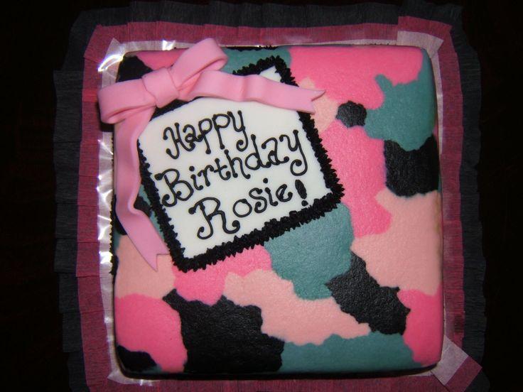 Camo Cakes Pink Camo Birthday Cakes