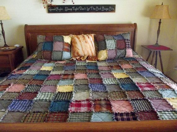 Patchwork Rag Quilt  Twin by TheLaughingBlackbird on Etsy, $275.00 This would be adorable as a baby quilt!!
