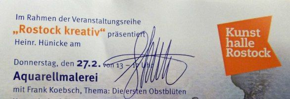 Frank Koebsch und Feliks Büttner live in der Kunsthalle Rostock