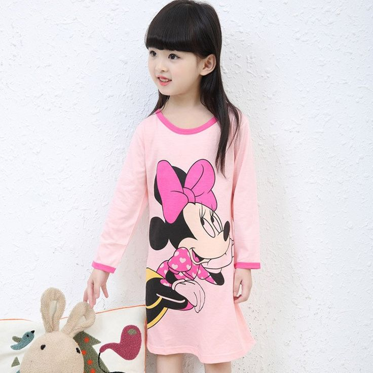 3-11Y New 2016 Autumn & Winter Style Girl Nightgown Children Cloth Girls Sleepwear Kids Girls Princess Girl Home Clothing