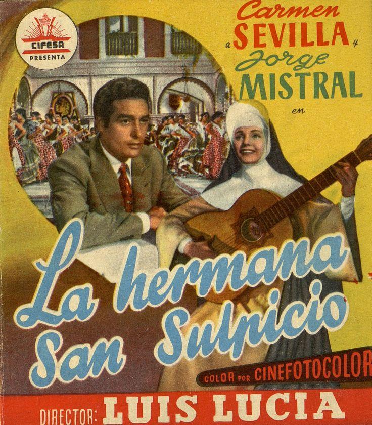 345.     Hermana San Sulpicio, La. Dirigida por Luis Lucia. San Sebastián: Talleres Offset, [1952].  #ProgramasdeMano #BbtkULL #CineEspañol #DiadelLibro2014