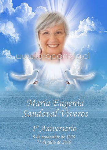 4 Tarjeta Fallecimiento Aniversario 4 Tarjetas De