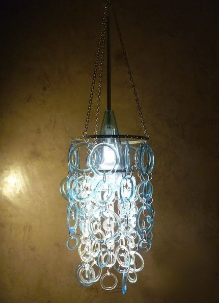 17 best images about water bottle chandeliers on pinterest bottle high schools and recycled - Glass bottle chandelier ...