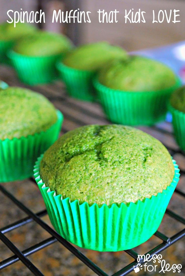Spinach Muffin Recipe - this simple recipe is a great way to get veggies into your child's diet. The best part is that kids (and adults) LOVE it!