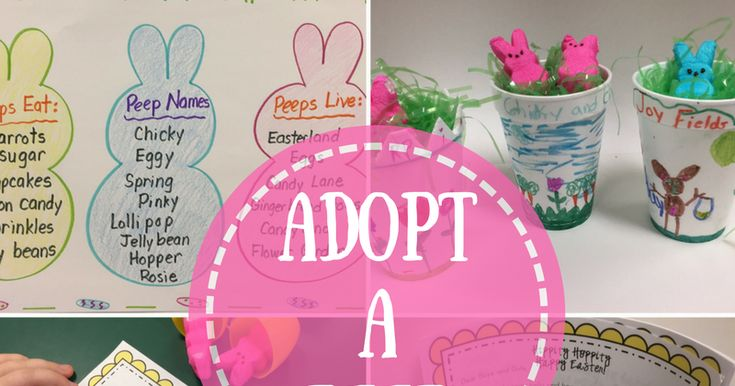 Easster Peep Activities for Kids - Adopt A Peep Easter writing activity is a fun activity for your students that includes a printable birth certificate, Peep Baby Book, writing templates and letter from the Easter Bunny.