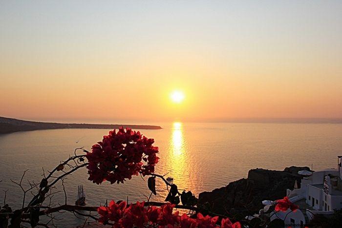 Most beautiful Santorini sunset in Oia
