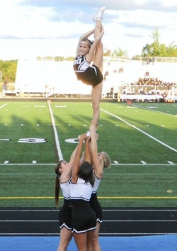 Don't you hate the controversy between high school and all star cheer? Most all star girls don't have a needle like this.