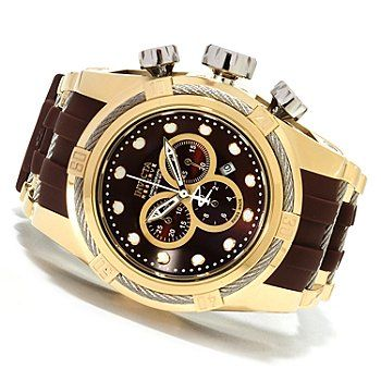Invicta Reserve Mens Bolt Zeus Swiss Made Quartz Chronograph Polyurethane Strap Watch