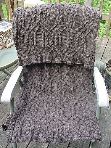 17 Best images about Knitting-blankets on Pinterest Cable, Knitting and Yarns