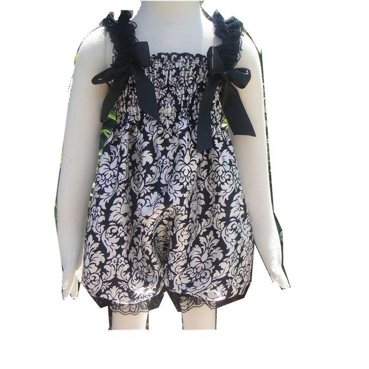 >> Click to Buy << Newborn Baby Romper White Lace & Grey Chevron Satin Petti Rompers Baby Ruffle Romper ZZ026 #Affiliate