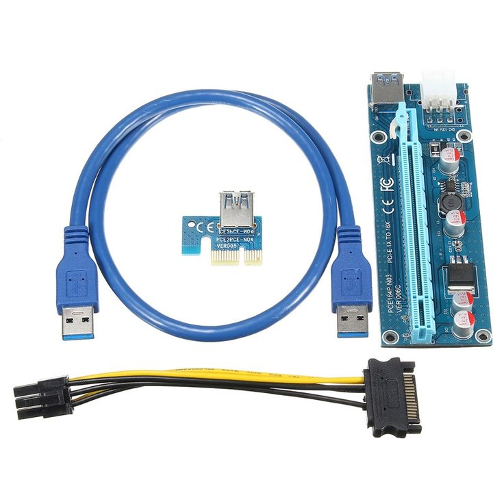 28.20$  Watch here - http://alijfv.shopchina.info/go.php?t=32808494054 - High Quality 5pcs USB3.0 PCI-E Express 1x To 16x Extender Riser Card Adapter 15pin Male to 6pin Power SATA Cable For Mining Use 28.20$ #aliexpress