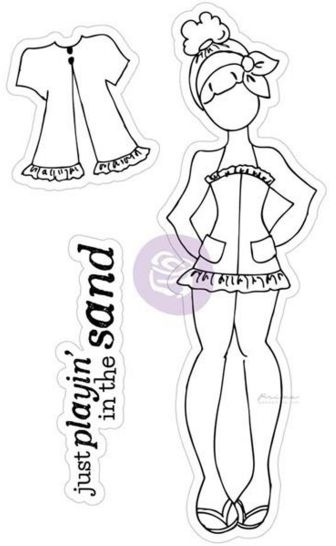 Scrapbookdepot - Julie Nutting Doll Cling Stamp - Lila