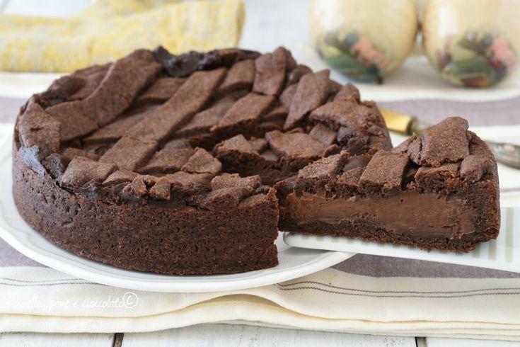 La ricetta della crostata di cioccolato e' imperdibile perche' avrete un dolce dessert perfetto e facile grazie alla preparazione