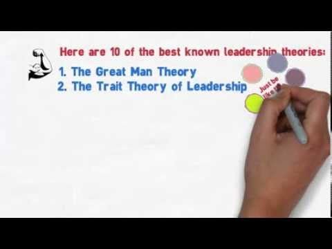 Ten Leadership Theories in Five Minutes  https://www.youtube.com/watch?v=XKUPDUDOBVo