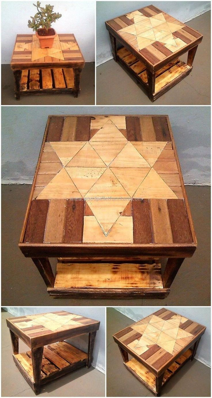 Here we came up with small pallets wood table that is best to use multipurpose. This is another functional and effective wood pallets craft. This small table is best to keep decorations items on it and also good to use for serving tea and coffee to your visitors at home. #woodworkathome