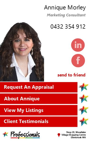 Annique Morley Professionals RE iCard developed by Realworx Marketing Mobile Apps Australia New Zealand USA UK