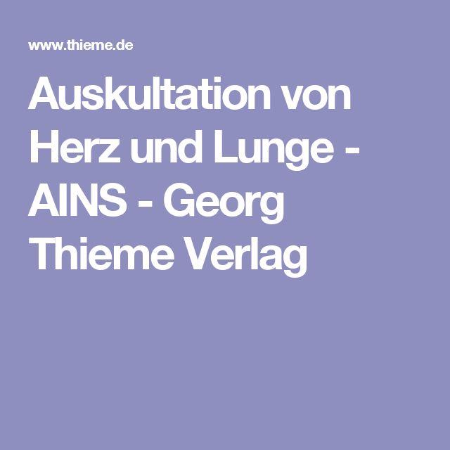 Auskultation von Herz und Lunge - AINS - Georg Thieme Verlag
