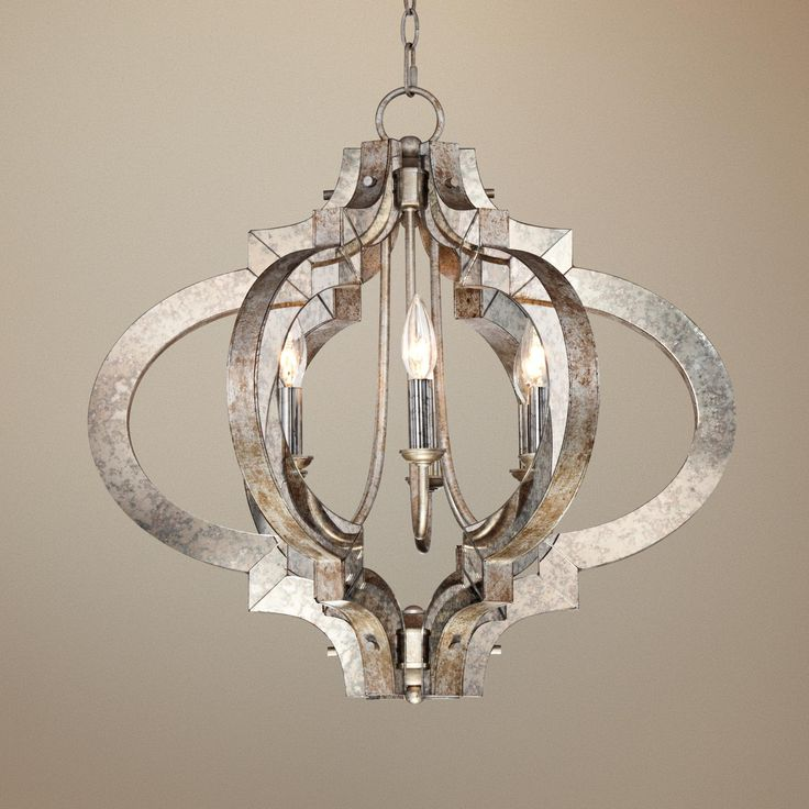 Possini Ornament Aged Silver 6-Light Chandelier | LampsPlus.com