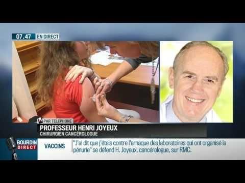 """Le professeur Henri Joyeux, chirurgien cancérologue, va comparaître devant la chambre disciplinaire du conseil de l'ordre des médecins de la région Languedoc Roussillon, sur les vaccins. Il était l'invité de Jean-Jacques Bourdin ce vendredi 27 mai. """"Les laboratoires pharmaceutiques ont créé une véritable pénurie du seul vaccin obligatoire, en créant un vaccin sept fois plus cher"""", explique-t-il. """"Ils s'intéressent beaucoup plus à leur pognon qu'aux malades!"""""""