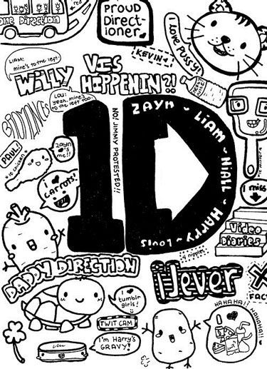 cartoon one direction coloring pages - photo#25