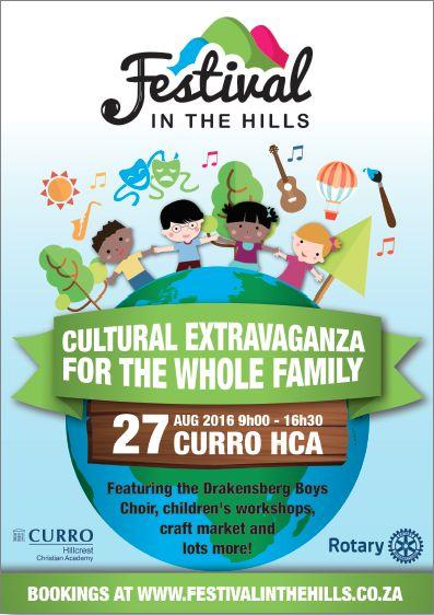 Festival in the Hills, Annual Event   Creative Design, Website Design, Social Media Management. www.festivalinthehills.co.za