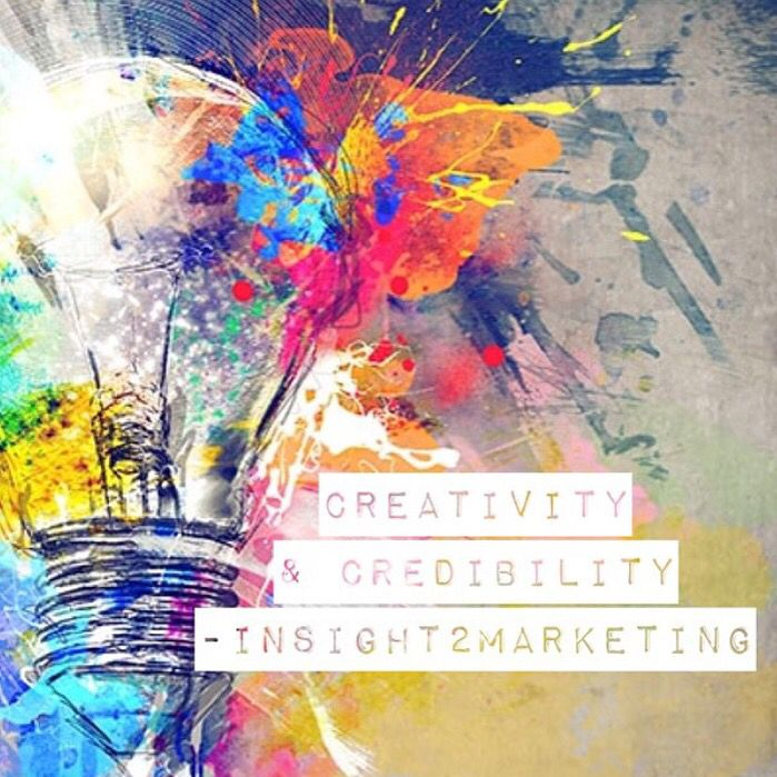 Be creative and credible in your marketing #quote #marketing #branding   www.instagram.com/inspireurbiz
