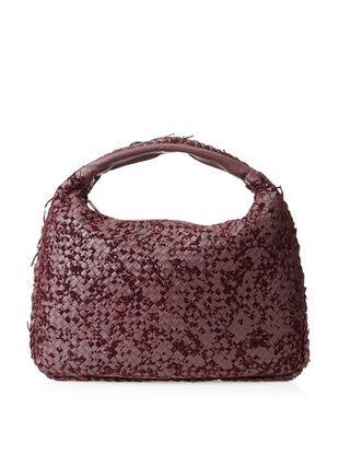 Bottega Veneta Women's Large Hobo Bag, Maroon
