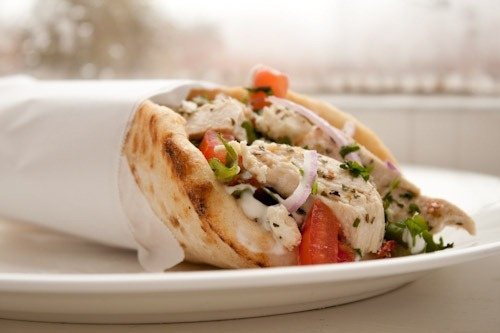 Lemon Chicken Gyros with Tzatziki and FetaTasty Recipe, Fun Recipe, Tzatziki, Lemon Chicken, Made, Yummy, Delicious, Greek Food, Chicken Gyros