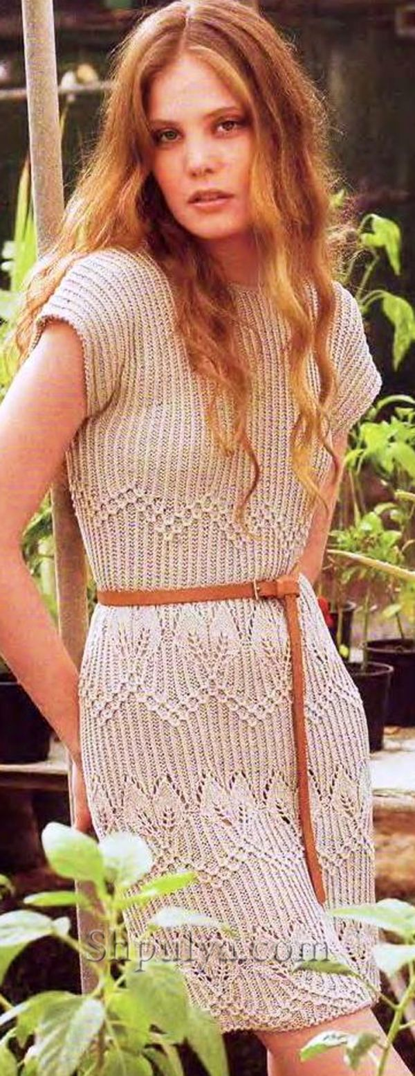 вязание платья спицами для женщин для осени схемы