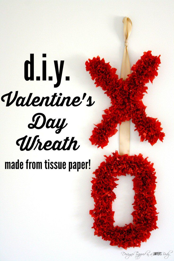 8fc8b5f5180accecddcee26bd73db756 - THIS IS SO CUTE! Come learn how to make a Valentine's Day wreath using tissu...