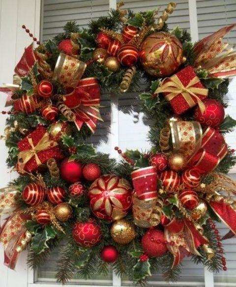 32 asombrosos rojo y oro de Navidad DÃ © cor Ideas | DigsDigs
