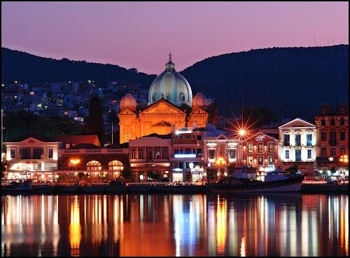 Panoramio - Photo of Blue Hour at the Harbour of Mytilini - 8Sec.- Lesvos Island - Greece- [By Chio.S]