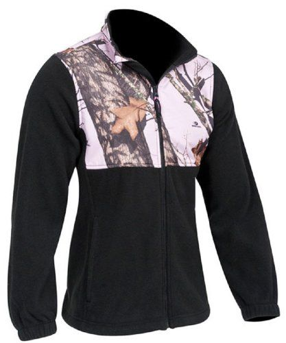 Pink Camo Jacket Womens Plus Mossy Oak Pink Snow Fleece Black Jacket. GIMME.
