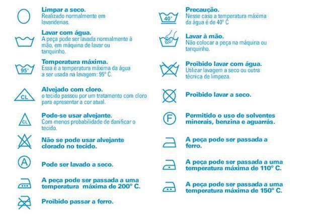 Para garantir uma lavagem eficiente e remoção de manchas, conhecer os símbolos universais de lavagem é mandatório - DECORACASAS | Flávia Ferrari