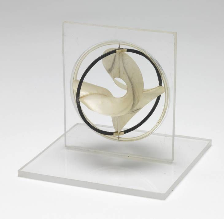 Naum Gabo 'Model for 'Monument to the Astronauts'', c.1966–8 The Work of Naum Gabo © Nina & Graham Williams/Tate, London 2014