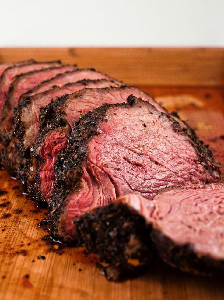Juicy, flavorful Sirloin Tip Roast. The secret is in pre-salting the meat.