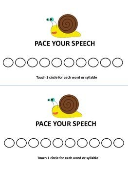 Snail Speech Pacer   FREEBIE