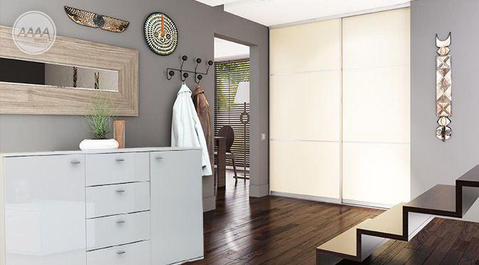 Biała komoda do przedpokoju #nowoczesnemeble #mebledosalonu #meble #minimalistycznemeble #mebleniemieckie #dom #aranzacjedom #aranzacje